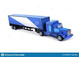 100 Semi Truck Toy Isolated On White Background Stock Image