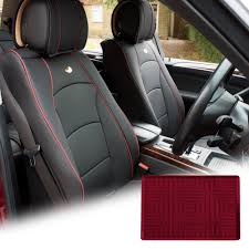 100 Truck Dash Covers FH Group Black PU Leather Front Bucket Seat Cushion For Auto