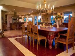 Wood And Tile The Dining Room Flooring For Comfortable