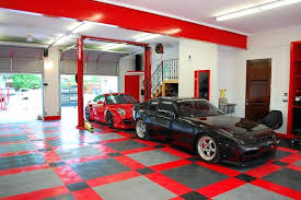 cool garage ideas racedeck flooring top traditional and shed