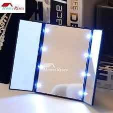 Quality Makeup Mirror Led Lights Folding Free Stand Portable