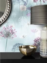 newroom papiertapete blumentapete blau wallpaper floral blumen tapete pflanzen wohnzimmer schlafzimmer büro flur kaufen otto