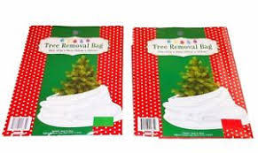 Image Is Loading Lot Of 2 Christmas Tree Removal Bags Red