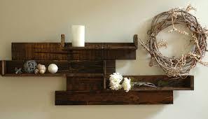Decorative Wall Shelves Modern Rustic Pallet Wood
