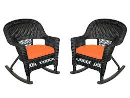 2-Piece Tiana Black Resin Wicker Patio Rocker Chairs Set - Orange Cushions  - 31556417 Kampmann Outdoor Wicker Rocking Chair With Cushions Harmony Patio Blackwhite Mesh Cast Alinum Frame On Porch Black Resin Indoor Chairs Elegant 52 Currituck Sophisticated Relaxing Ratan Fniture Acceptable Antique Prices Buy Pricesratan 3pc Rocker Set With Brick Red Cushion Intertional Caravan San Tropez Gliders Rockers Sale Kmart Childrens