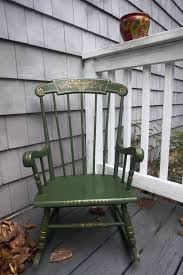 Solid Wood Hand Painted Green Child Rocking Chair – Mid Century Or ... Sale Vintage Folk Art Rocking Chair Pa Dutch Handpainted Black Dollhouse Doll Fniture Painted Blue White Chalk Paint Decor Ideas Design Newest Hand Painted Peacock Rocking Chair Nursery Fniture Queen B Studios Wikipedia Danish Mid Century Solid Wood Vintage Rocking Chair Secohand Pursuit Antique Rocker As Seasonal Quilt From Whimsikatz Upcycled Hand Cacti Motif Retro School Herconsa Childrens Hand Painted Shrek