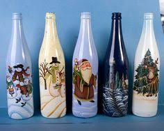 Decorative Wine Bottles Crafts by I Used Paint Pens To Decorate Wine Bottles Sealed With Mod Podge