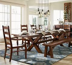 Pottery Barn Style Dining Rooms Toscana Extending Table Best Images
