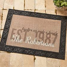 Personalized Burlap Family Doormat To her We Make A Family