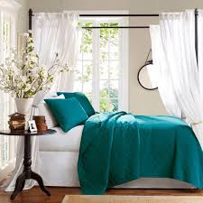 Gorgeous Color On The Bedding Teal Bedroom