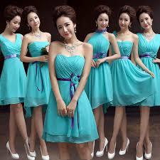 Teal Bridesmaid Dresses Chiffon Turquoise Blue Dress For Weddings
