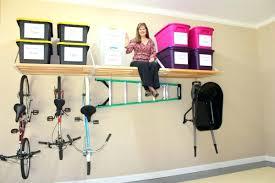 utilize available space garage wallsgarage overhead storage shelf