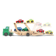 100 Truck Paper Car Carrier Melissa Doug Rier And S Wooden Toy Set With 1