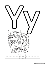 Yak Coloring Page Alphabet Missive Of The Y