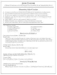 Good Teacher Resume Samples Preschool Skills For Best Resu