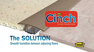 Vinyl Tile To Carpet Transition Strips by How To Install A Cinch Floor Transition Youtube