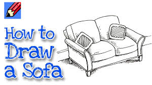 How To Draw A Sofa Real Easy