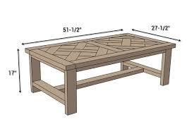 diy parquet coffee table free plans coffee table dimensions