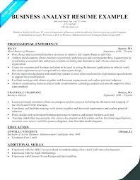 Business Analyst Cv Template Word Resume Sample It Examples
