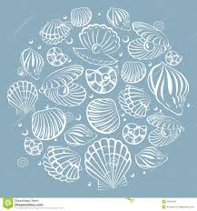 100 Sea Shell Design Shell Round Element Stock Vector Illustration Of Card
