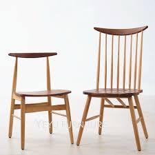 klassische moderne design solide eiche und nussbaum massiv holz esszimmer stuhl europa einfache design holz stuhl nussbaum holz stuhl 1pc
