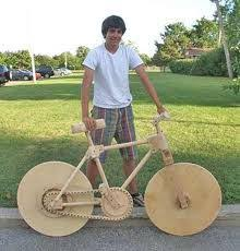 Year Old Builds Working Wooden Bicycle Woodworking Projects For Kidscool