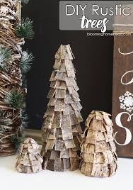 Beautiful DIY Rustic Christmas Trees Using Birch Bark These Are So Easy And Affordable To