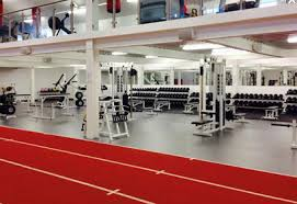 sport impact rubber flooring with load bearing base