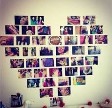 A Great Roundup Of Teenage Girl Bedroom Decorating Ideas Projects Including This Photo Heart Shaped Wall Design Idea