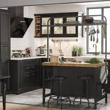 küche mit schwarz lasierten fronten ikea bild 4 in