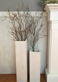 White Wooden Vases Reclaimed Wood Distressed Floor