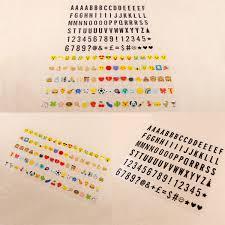 Kwmobile Cinema Light Box Letters A4 Size 105 Pieces Black