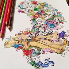 Sumptuous Design Doodle Coloring Book Invasion The Highly Detailed That Adults Love
