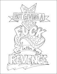Majestic Design Words Coloring Pages Make Life Your Bitch Swear Word Book