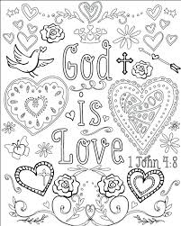 Full Image For God Is Love Coloring Pages Bible Verse Set Of 5 Instant