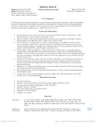 Sharepoint Developer Resume From Nett Point Admin Sample Galerie Entry Level