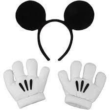 White Halloween Contacts Walmart by Mickey Ears And Gloves Set Halloween Accessory Walmart Com