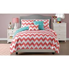 Amazon Twin Size Reversible Chevron forter Bedding Set in