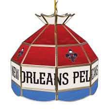 trademark new orleans pelicans nba 16 in tiffany style l