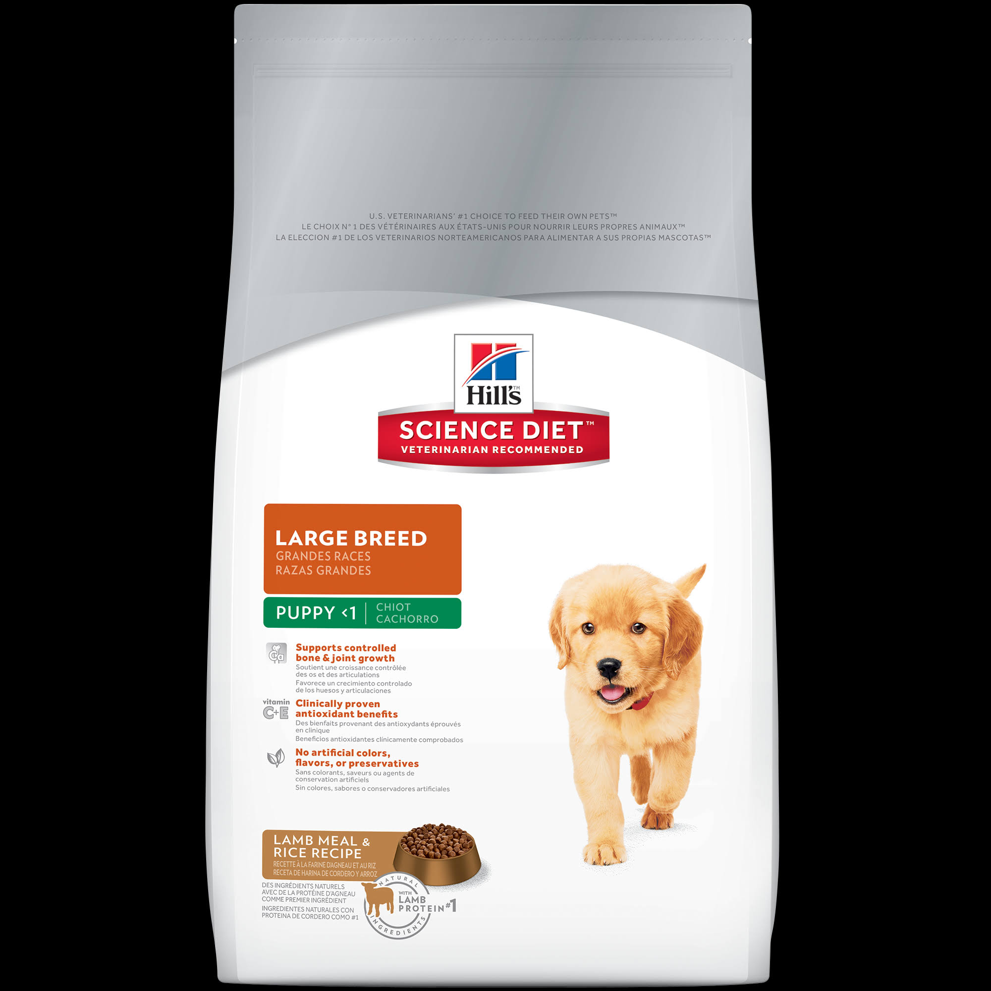 Hill's Science Diet Puppy <1 Large Breed Lamb Meal & Rice Recipe Premium Natural Dog Food - 33 lb