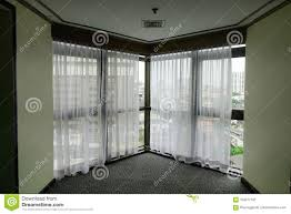 100 Residence Curtains Sunrise Through Transparent Of A Window Stock Image Image