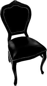 casa padrino barock luxus echtleder esszimmer stuhl schwarz schwarz handgefertigte möbel mit echtem leder