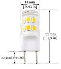 bonlux led g8 light bulb 2 watts warm white t4 g8 base bi pin