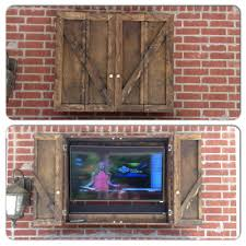 Our new custom outdoor TV cabinet