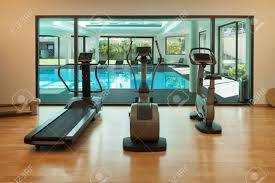 100 A Modern House Interior Gym Of With Spa Stock Photo Picture Nd