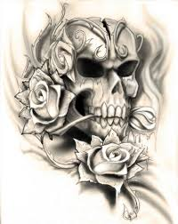 Skulls School Rose Tattoo Skull Traditional Stock Vector How To Draw A U Youtube Art Drawings