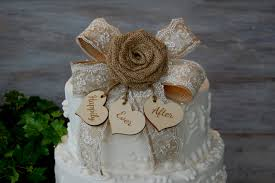 Rustic Wedding Cake Toppers For Sale