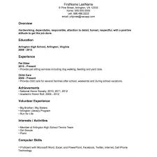 Job Resumes Samples First Resume Examples New Profile With Regard To Template