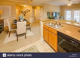 eine offene raumaufteilung bietet einen blick der küche