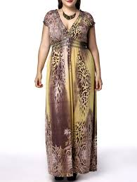 alluring plus size short sleeve plunging neck leopard print